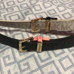 Reversable Michael Kors thin belts